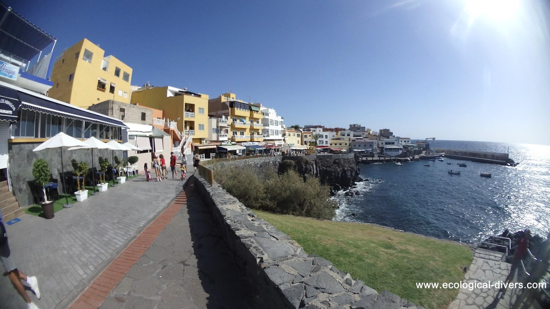 Th harbour from Los Abrigos with the Fish-Restaurants